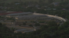 Mandalay, view from Mandalay Hill to the prison Stock Footage