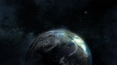 4K Earth in Space Over Europe Stock Footage