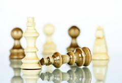Checkmate - white defeats black Stock Photos
