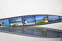 Filmstrip with vacation photos Stock Photos