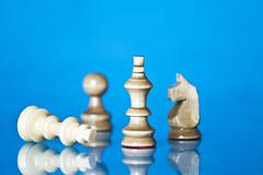 checkmate - black defeats white - stock photo