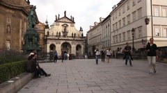 The Charles Bridge in Prague - stock footage
