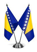Bosnia and Herzegovina - Miniature Flags. - stock illustration