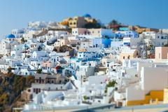 Oia on the island of santorini, greece Stock Photos