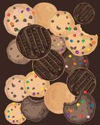 biscuit background - stock illustration