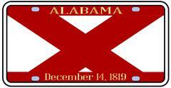 Alabama license plate Stock Illustration