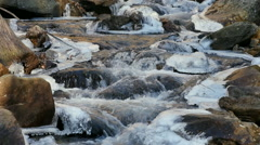 Icy Mountain Creek Stock Footage