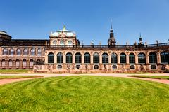 Zwinger  rococo style palace in dresden Stock Photos