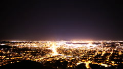 Time Lapse of San Francisco Bay Area Cityscape Night to Day Stock Footage