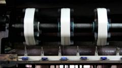 Working silk reeling machine Stock Footage