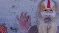 Sadhu colour corrected Stock Footage