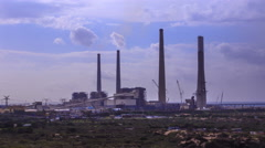 Coal power plant 4k timelapse Stock Footage