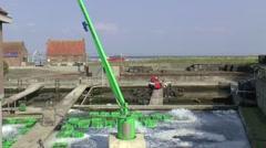 Oyster-farming in Yerseke Stock Footage