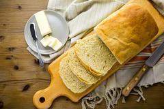 Stock Photo of sourdough bread with butter
