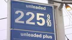 2015 Gas Prices Stock Footage