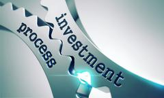 Stock Illustration of Investment Process Concept on the Gears.