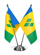 Saint Vincent and Grenadines - Miniature Flags. Stock Illustration
