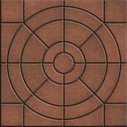Brown Pavement Slabs in the Form of Circles. Stock Illustration