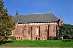 koenigsberg cathedral on kneiphof island, kaliningrad (former koenigsberg) - stock photo