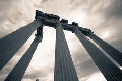 ruins of ancient greek temple - stock photo