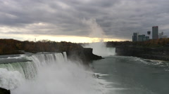 Sunset at Niagara Falls Stock Footage