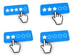 Ranking Concept - Web Buttons with Hand Cursor. - stock illustration