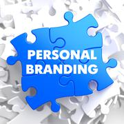 Personal Branding on Blue Puzzle. Stock Illustration