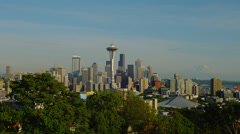 View of Space Needle from Kelly Park Stock Footage