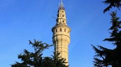 Beyazit Tower against blue sky Stock Footage