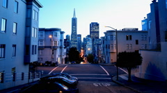 Time Lapse of Twilight Cityscape in San Francisco Stock Footage