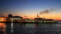 Sunset at Kadikoy - stock footage