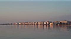 Thessaloniki Port before Sunset, Realtime Full High Definition Video Stock Footage