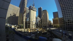 Wilshire Grand Center Construction Time Lapse Stock Footage