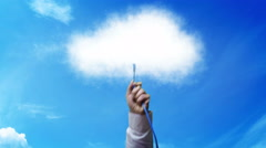 Plugging into The Cloud Stock Footage