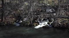 Sedona Arizona beautiful Verde River waterfall HD 011 Stock Footage