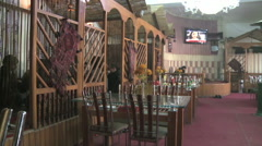 Interior of restaurant in Kabul Afghanistan Stock Footage