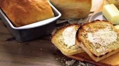 Sourdough bread - stock footage