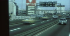 Tokyo 70s 16mm Highway Cars  Signs - stock footage