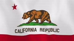 Loopable: California Flag Stock Footage