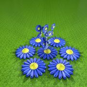 Blue daisy Stock Illustration
