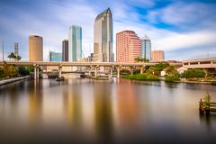 tampa, florida, usa skyline - stock photo