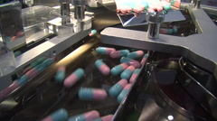Pharmaceutical Pill Drug Factory Capsule Medicine Vitamin Industry Plant 8188 - stock footage