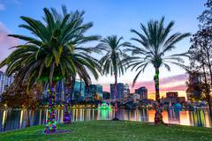 orlando, florida cityscape - stock photo