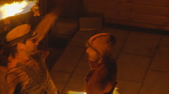 A couple fire dance 4 Stock Footage