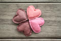 shades of pink happy love valentine hearts - stock photo