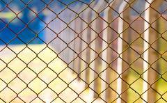 rabitz mesh netting - stock photo
