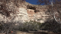 Sedona Arizona Montezuma Castle trail mature couple HD 007 Stock Footage