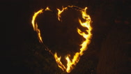 Stock Video Footage of Slow motion love heart on fire