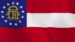 Loopable: Georgia Flag Stock Footage