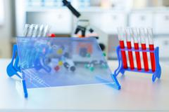 genetic microbiology lab supplies - stock photo